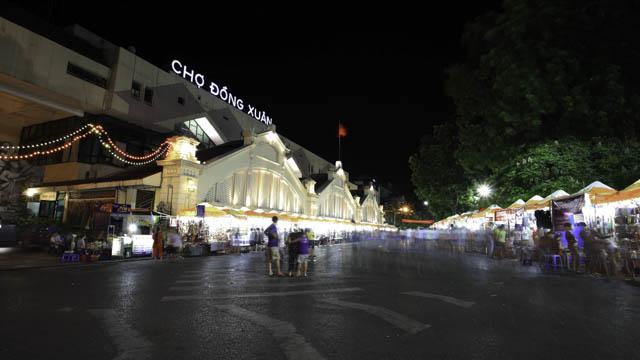 le marché de Dong Xuan