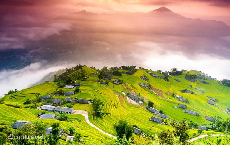 Vista sul villagio Phung a Hoang Su Phi, Provinica Ha Giang Photo Credit: Minh Huyen